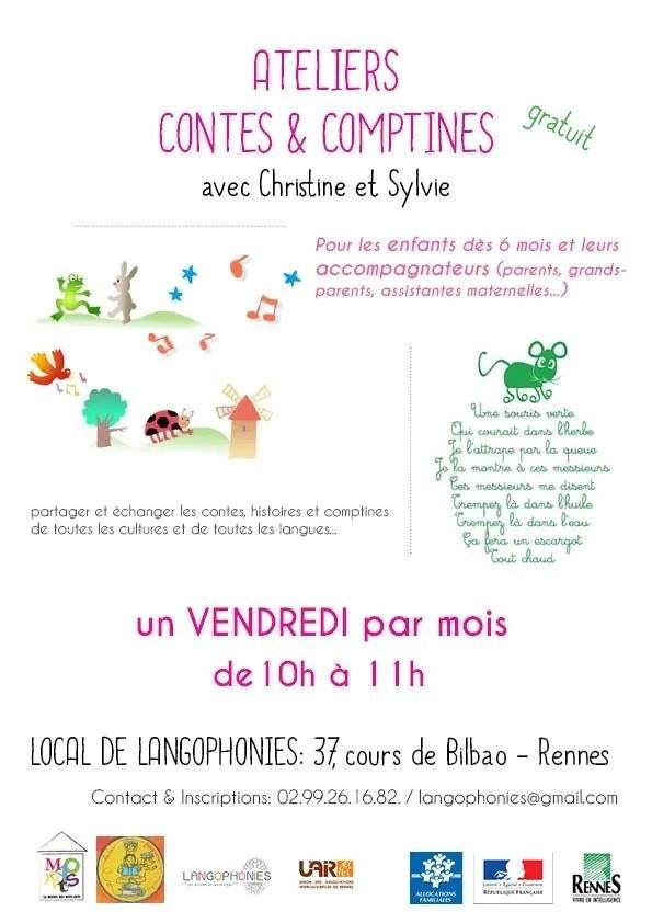 Atelier contes et comptines plurilingues Rennes