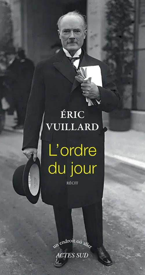 ordre du Jour Eric Vuillard