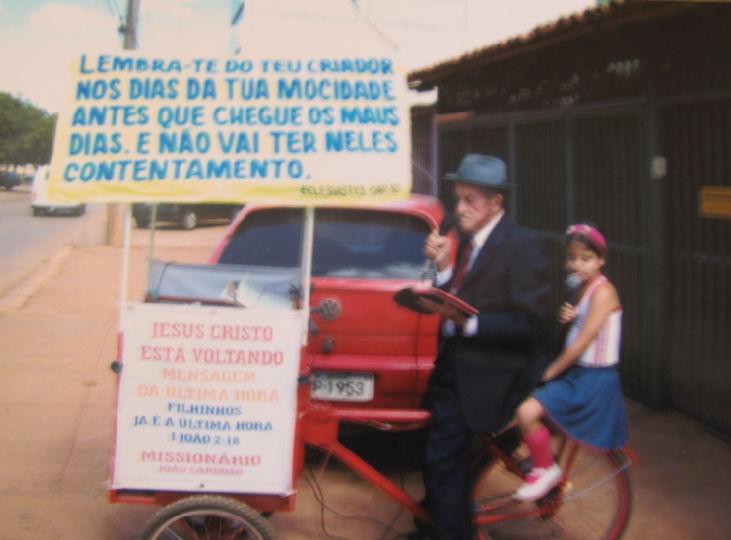 Irmao Joao Cardoso e sua bicicleta