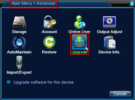 DVR Firmware Yükseltmesi
