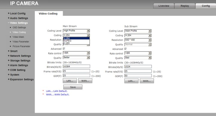 IP Kamera Video Kodlama Yapılandırması