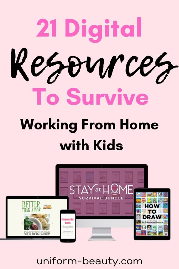How to survive working from home with kids