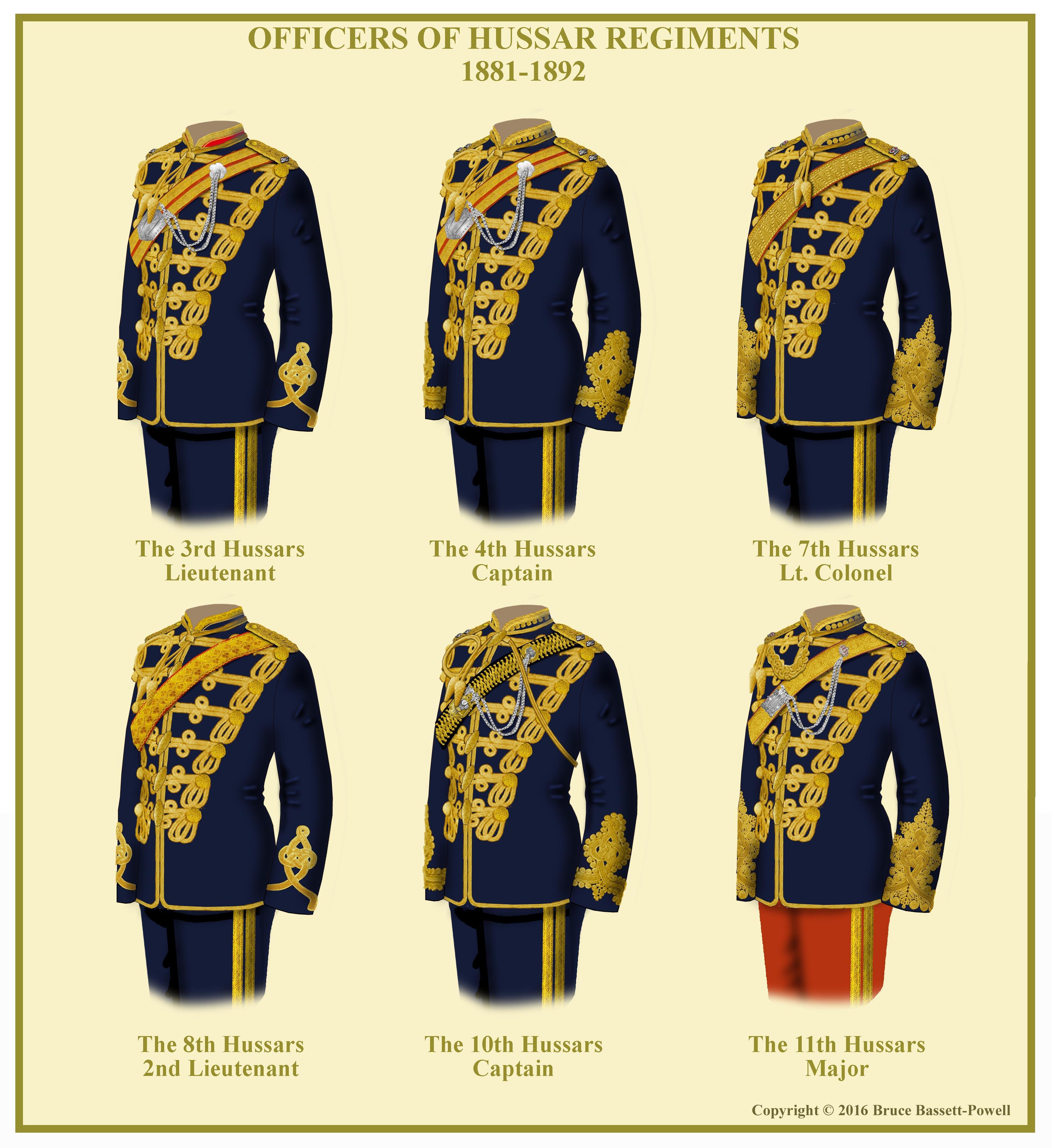 British Hussar Officer S Uniforms 92