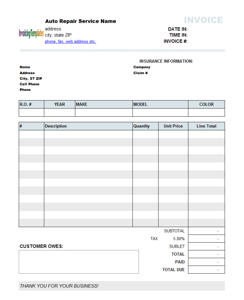 Free Invoice Template Australia invoice with gst template invoice – Blank Invoice Template for Microsoft Word