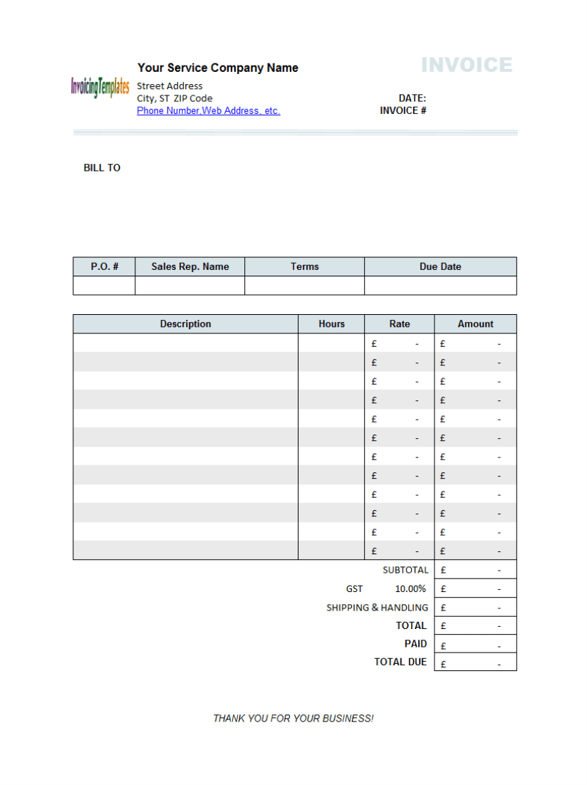 word invoice template uk 10 results found uniform invoice software, Invoice templates