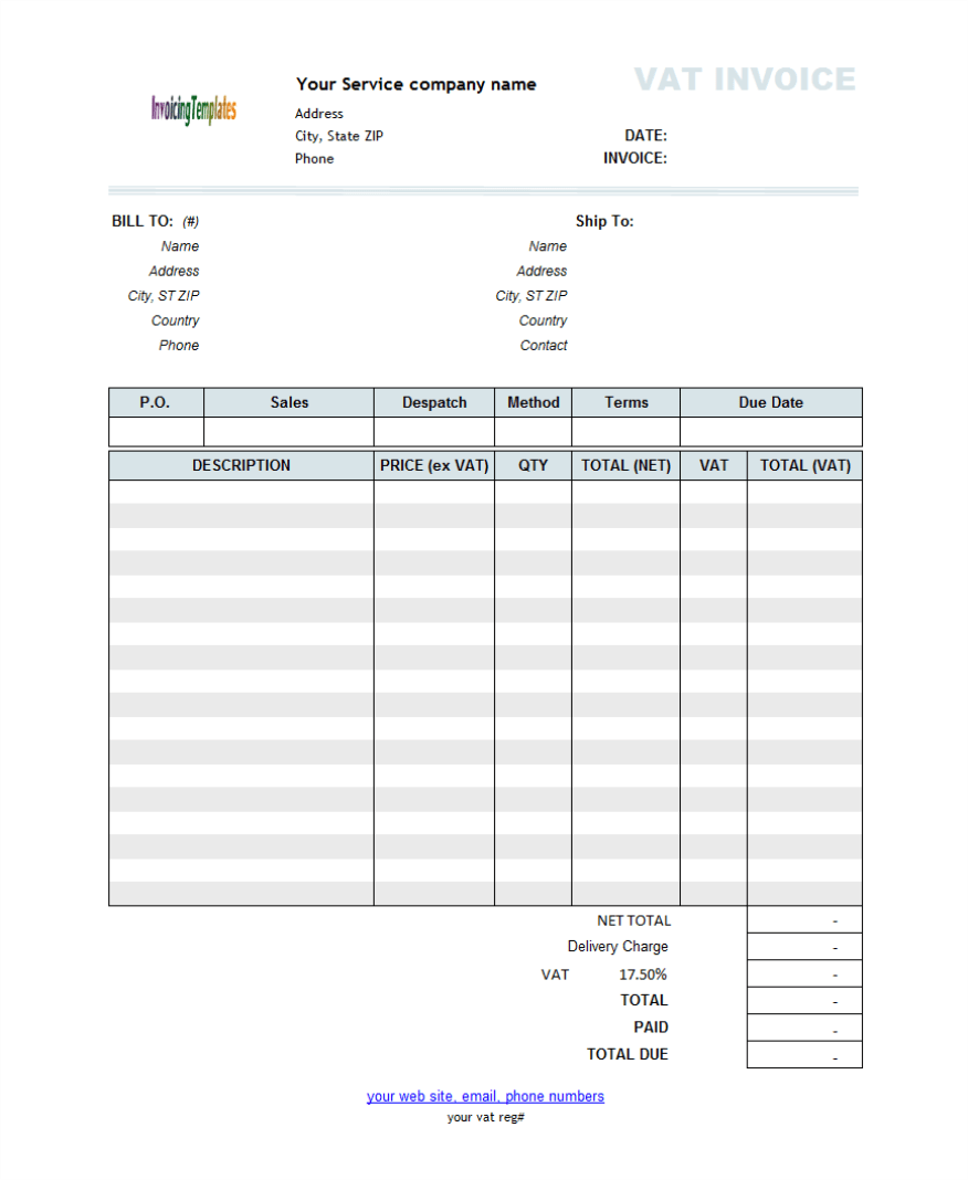 invoice log template – residers, Invoice templates