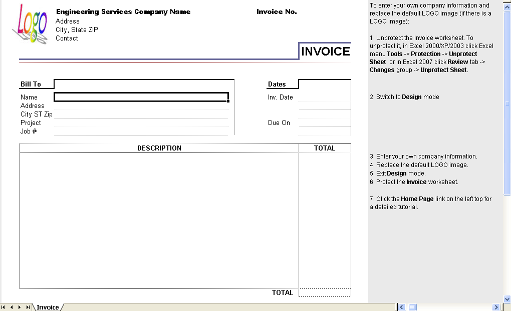Service Invoice Template to use a good professional cv writing to – Sample of Service Invoice
