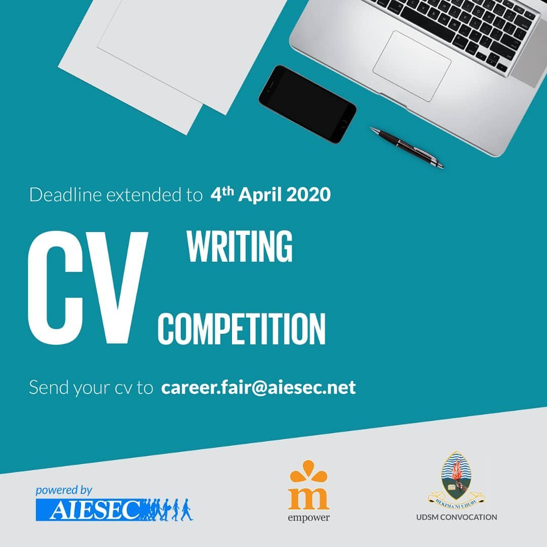 UDSM Curriculum Vitae (CV) Writing Competition 2020