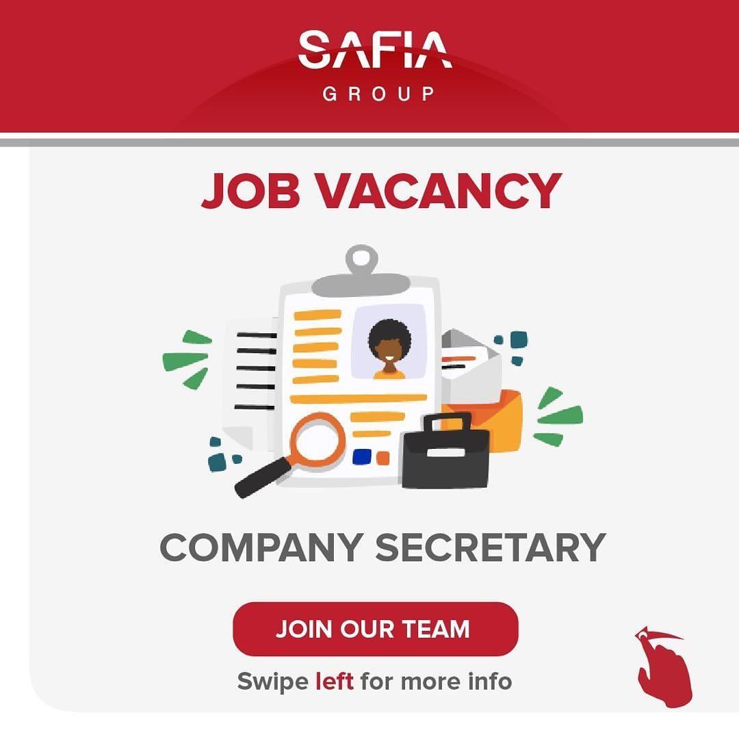 New Job Vacancy SAFIA Group, May 2020