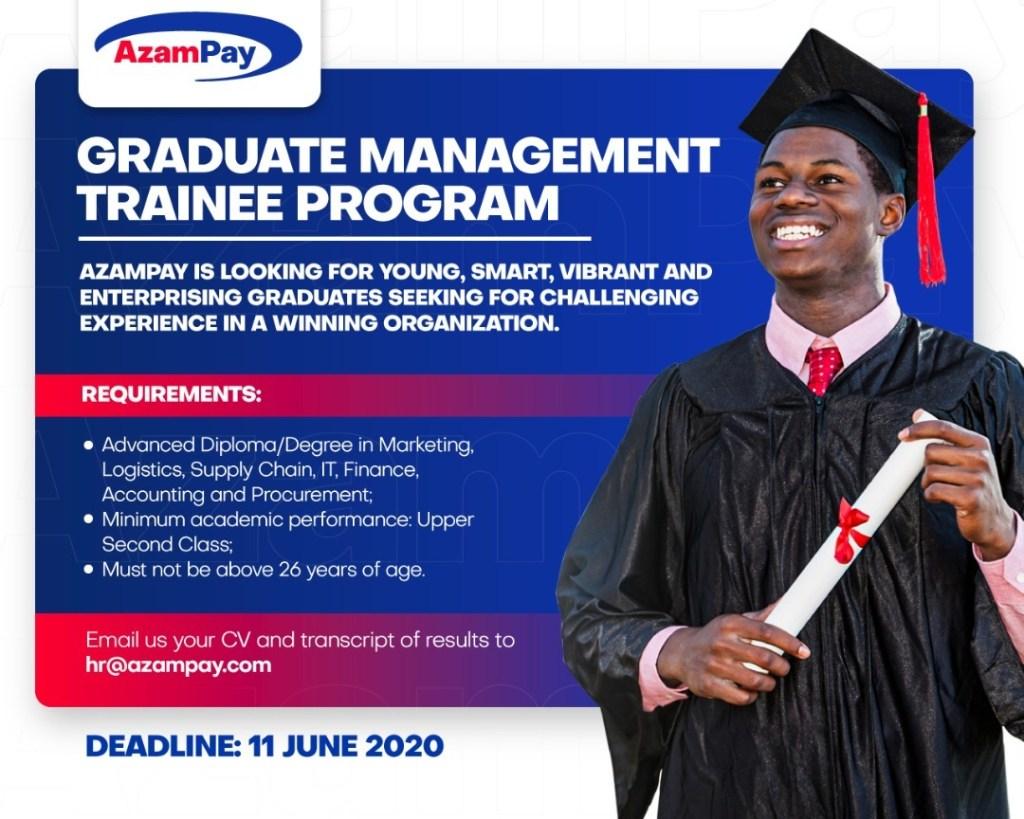 Graduate Trainee Program At AzamPay, June 2010