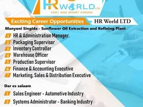 9 Job Vacancies At HR World Limited