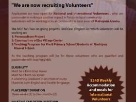 Volunteering opportunities at Maasai conservation Fund