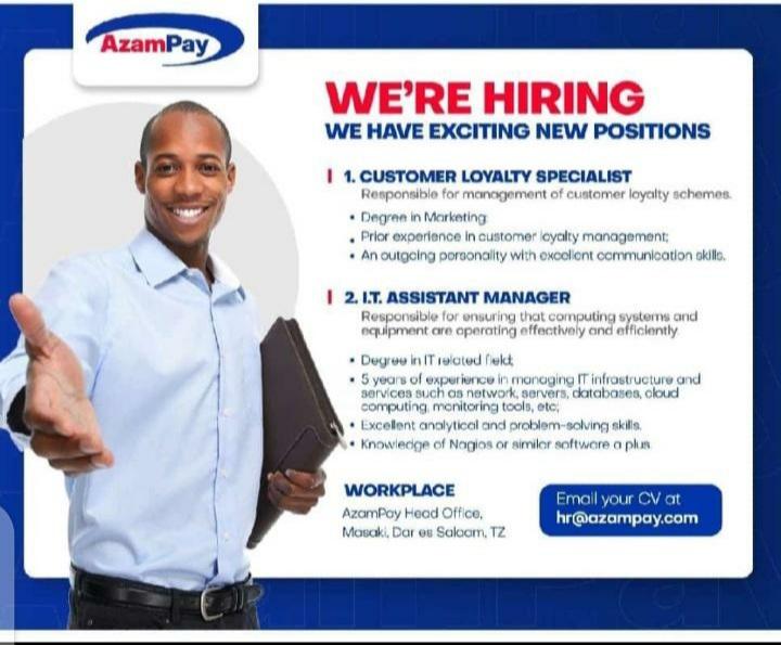 New Job Vacancies At Azampay, August 2020