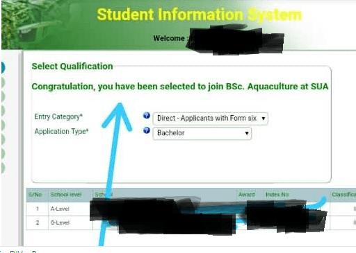 SUA selected applicants 2020/21 | Selection 2020/2021