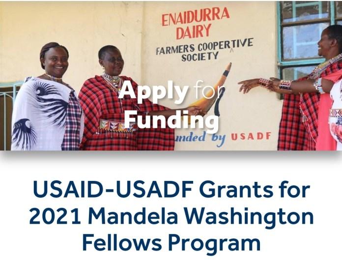 USAID–USADF Grantsfor 2021 Mandela Washington Fellows Program.