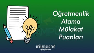 Photo of Öğretmenlik 2019 Atama Puanları (Mülakat-Taban Puanları) MEB
