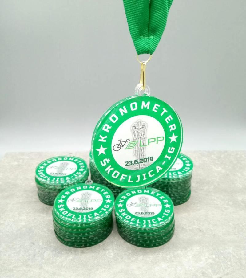 Akrilna unikatna Medalja za kolesarstvo
