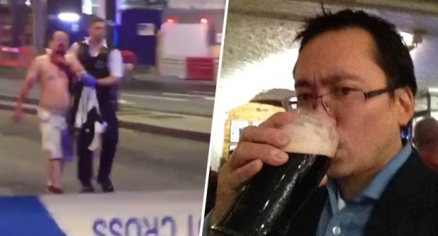 Martial Arts Expert Stabbed In Neck After Mistaking Terror Attack For Drunken Bar Fight geoff ho london fb