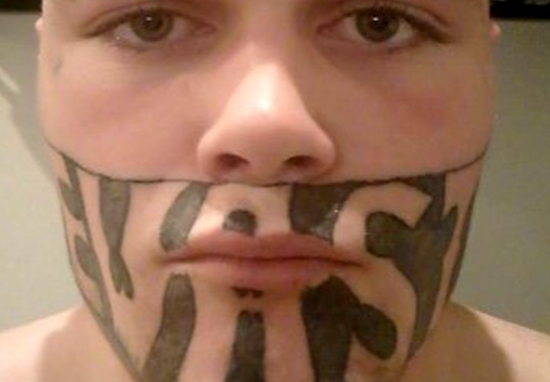Truth Behind Guy With Devast8 Face Tattoo Turning Down 45 Job Offers Face Tattoo A