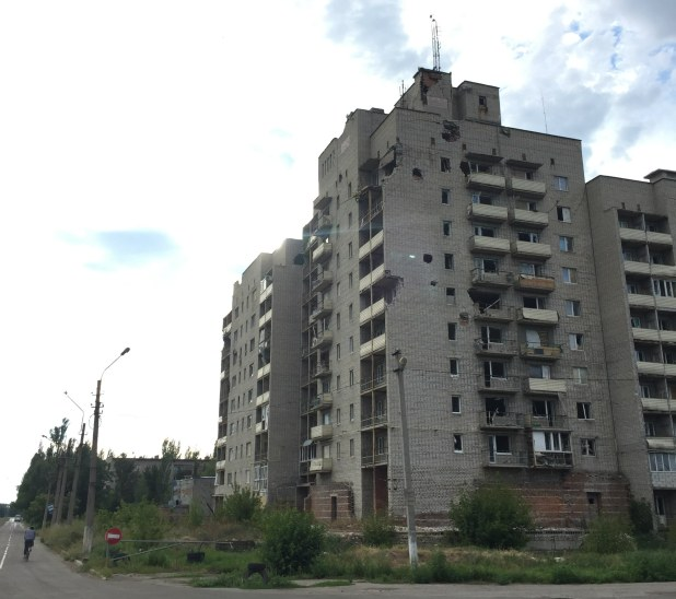 The Ongoing War In Europe That No Ones Talking About Damage from shelling in the front line town of Avdiivka – photo Stefan Jajecznyk