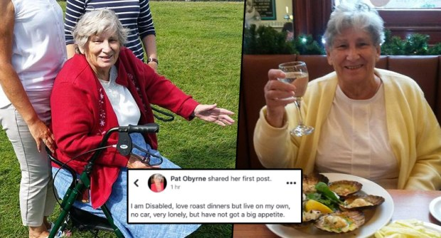Lonely Disabled Woman Asks For Roast Dinner Companion On Facebook, Gets Hundreds Of Offers Pat1 face
