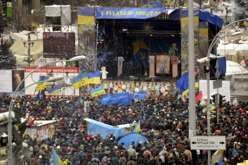 The Ongoing War In Europe That No Ones Talking About Protesters at the Independence Square in Kyiv Ukraine 2013 Photo Antti Aimo Koivisto