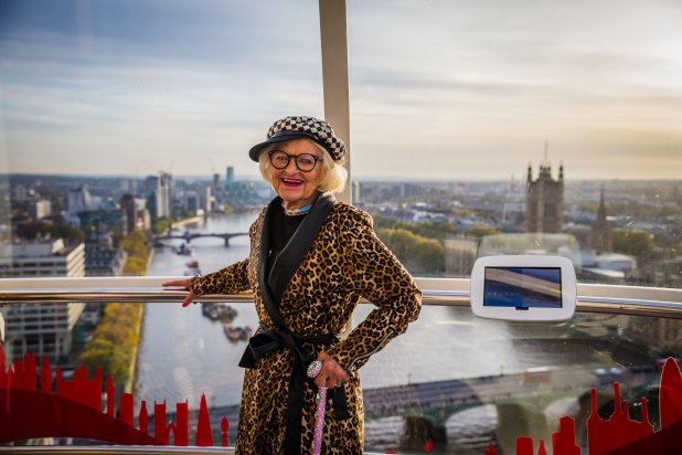 The Worlds Most Desirable Travel Destinations Baddie Winkle on the London Eye for her Hotels1