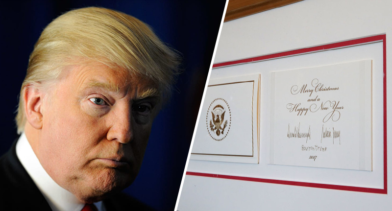 Donald Trumps White House Christmas Card Doesnt Say
