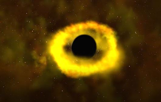 Black hole shreds star captured by NASA
