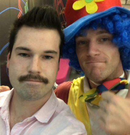 Man brings emotional support clown to meeting