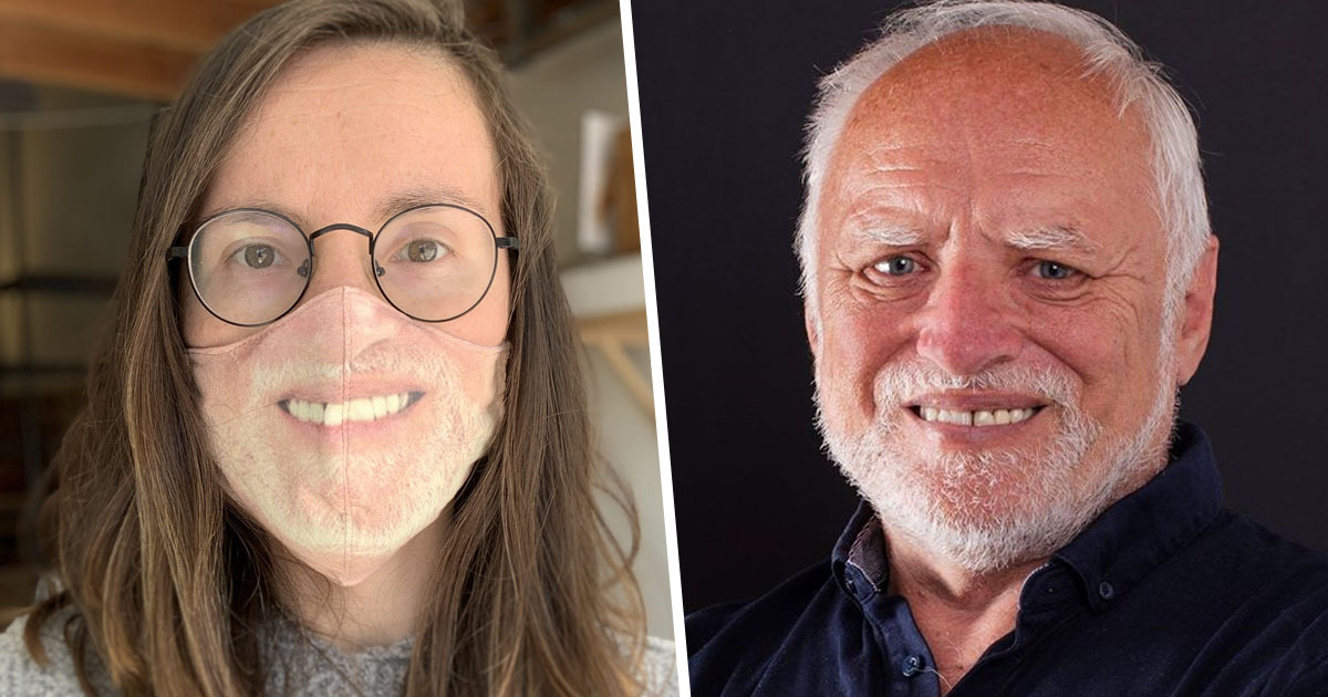 California Woman Makes Herself A Hide The Pain Harold Mask Unilad