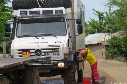 Autowäsche während der Wartezeit
