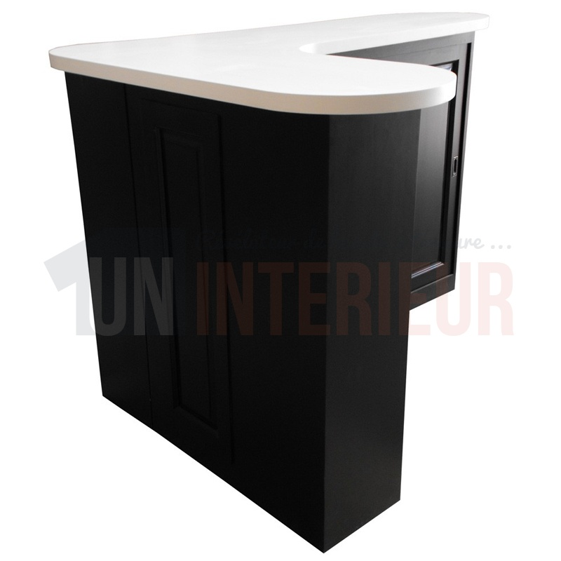 meuble comptoir service arrondi avec