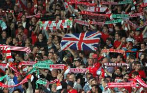 Union fans with Union Jack