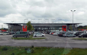 Ingolstadt's Sportpark: surrounded by desolate, characterless wasteland