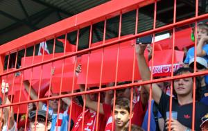 Union stadium block banners before kick-off