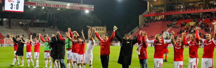 Union team celebrates their win