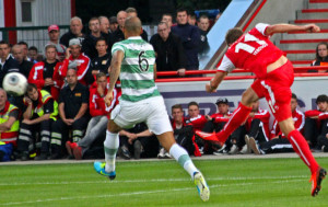 Terodde scores against Celtic