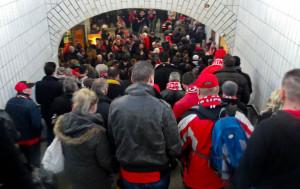 S-Bahnhof Köpenick before the Aue match