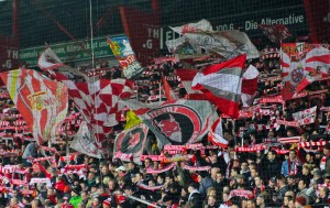 Walfseite flags before kick-off