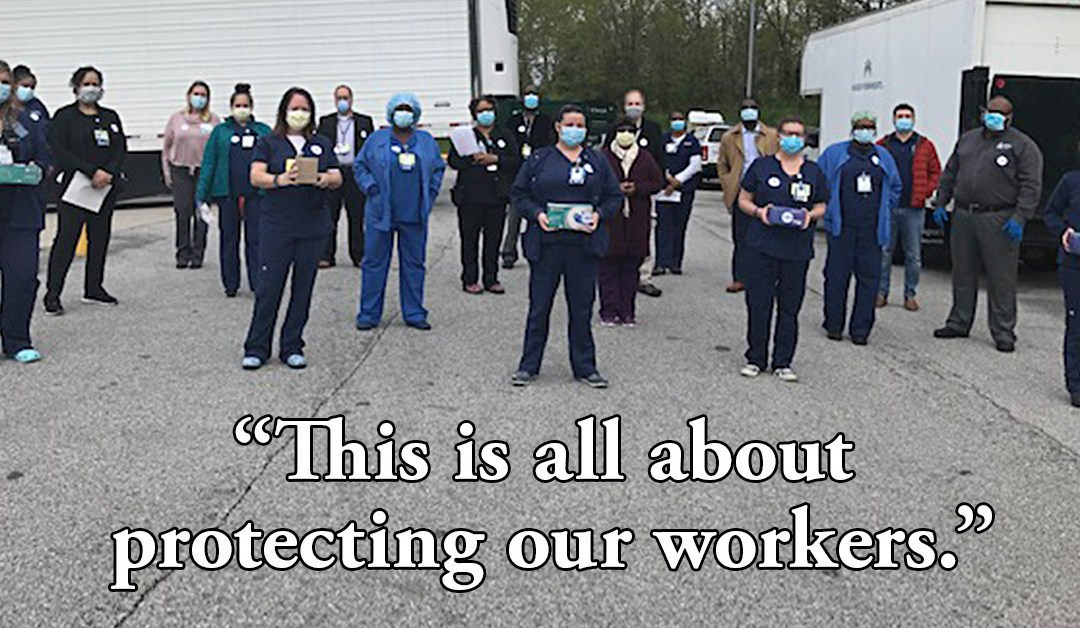 Mid-Atlantic KP Employees Score Big Donation of PPE from Metro Baltimore Labor Council