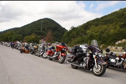Bikes at Veterans Overlook