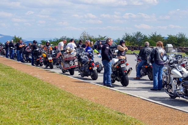 Riders at Veterans Overlook