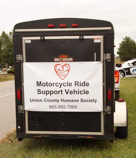Banner on Support Vehicle