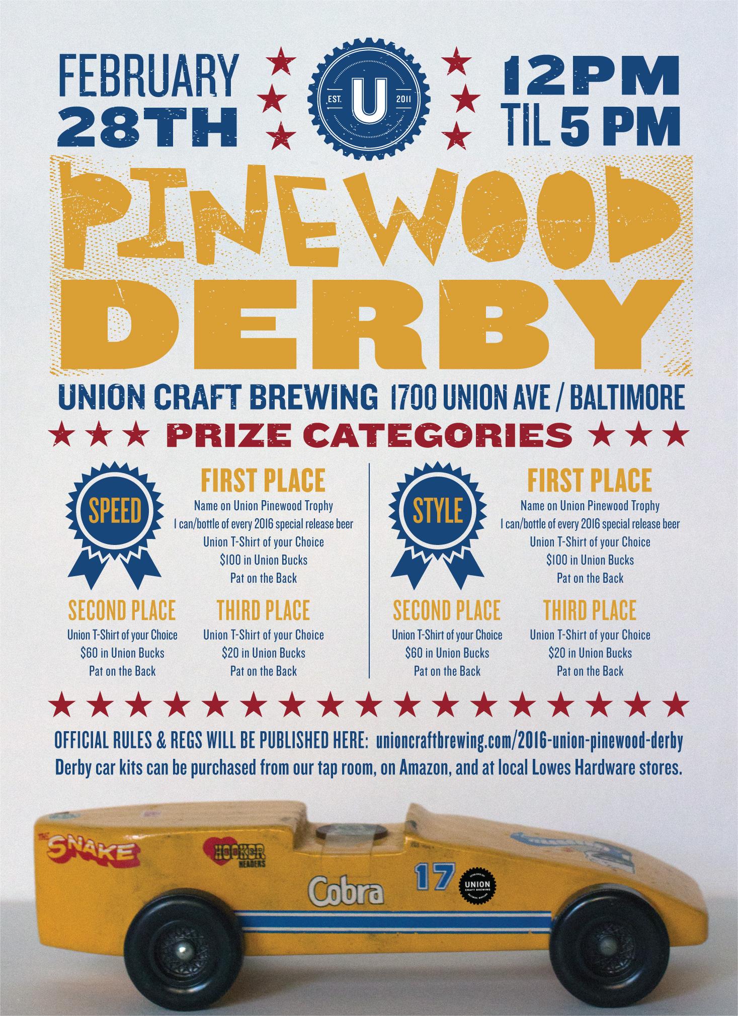 Union Craft Brewing 2016 UNION PINEWOOD DERBY