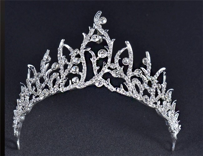 Stunning Ally Crystal Wedding Bridal Sparkly Tiara Crown