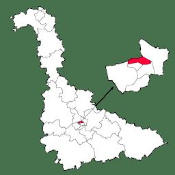 Carte : le canton de Nancy 2 dans la Meurthe-et-Moselle