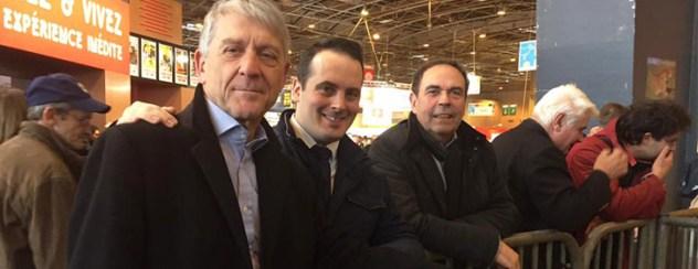 Jean Loctin, Christopher Varin et Michel Marchal