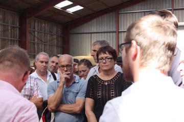 Visite ministérielle dans une exploitation agricole à Drouville (54)