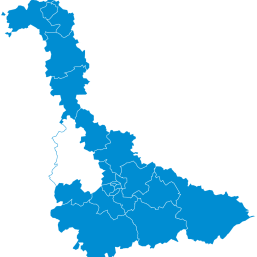 Carte : le Nord Toulois dans la Meurthe-et-Moselle